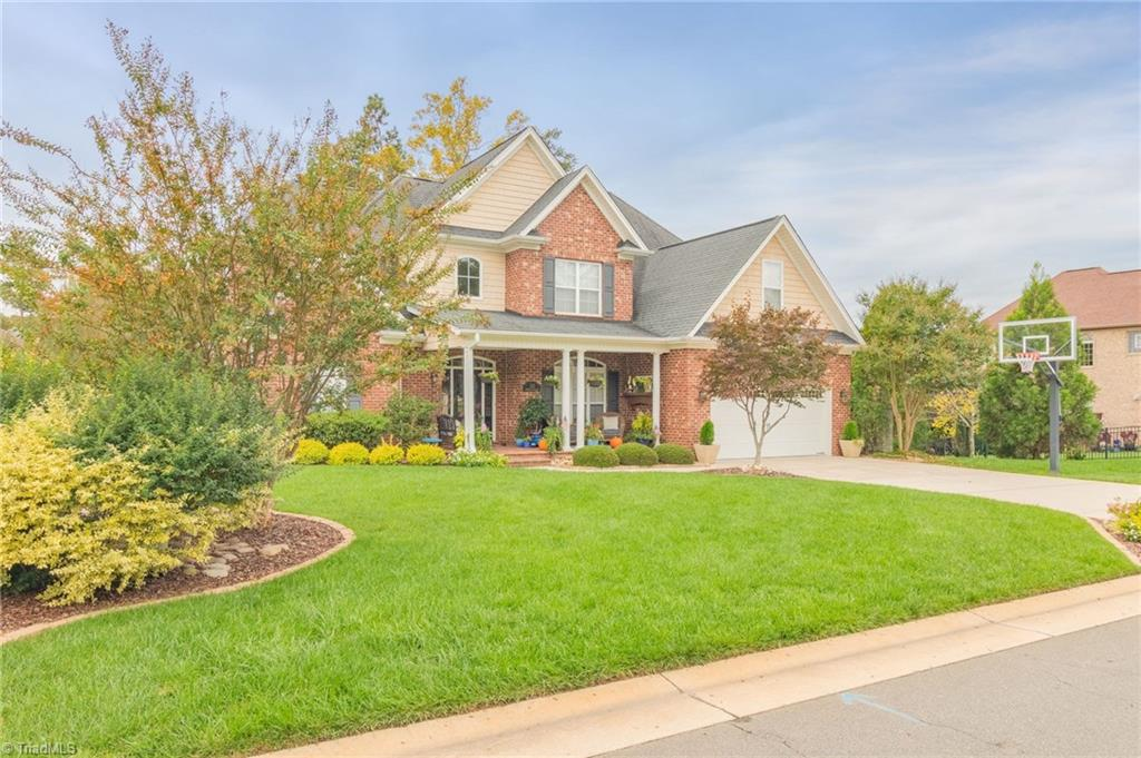 Magnificent Meadowlands!! Rare Find! Enjoy dedicated space for everyone in this fabulous transitional floor plan. Spend upcoming fall evenings gathered on the screened porch while overlooking the pristine, manicured landscaping. Spend summers by the pool or on the course. Close to Winston/High Point and Kernersville.  Move-In Ready!