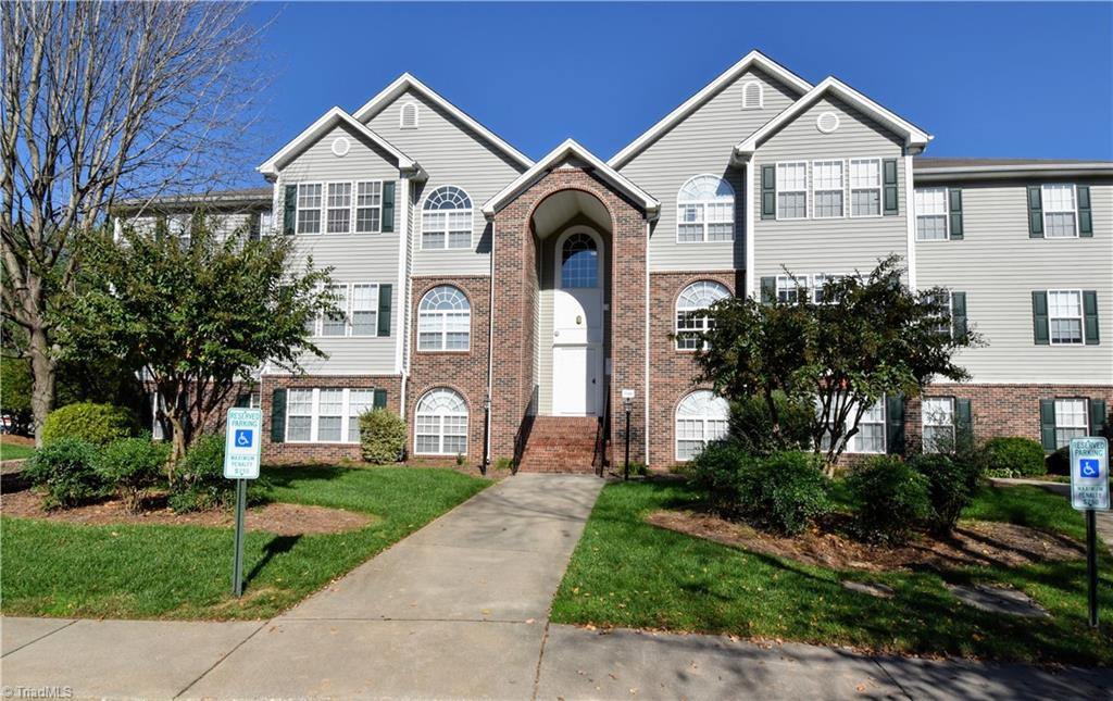 Great place for first time home owners or investors. Deacon Ridge offers a gated community close to WFU, Downtown Winston Salem, Highway 52 and all points North. 10 Minutes to Hanes Mall, both Hospitals and lots of dining and shopping options nearby. This 2 bedroom, 2 bath unit has easy access on the second floor and features gas fireplace that is like new, ceiling fans, nice newer carpet in living area, built in shelves, covered balcony with storage room, gas heat and hot water, laundry room with included washer & dryer and kitchen offers an included refrigerator. Set your appointment now as this will go fast.