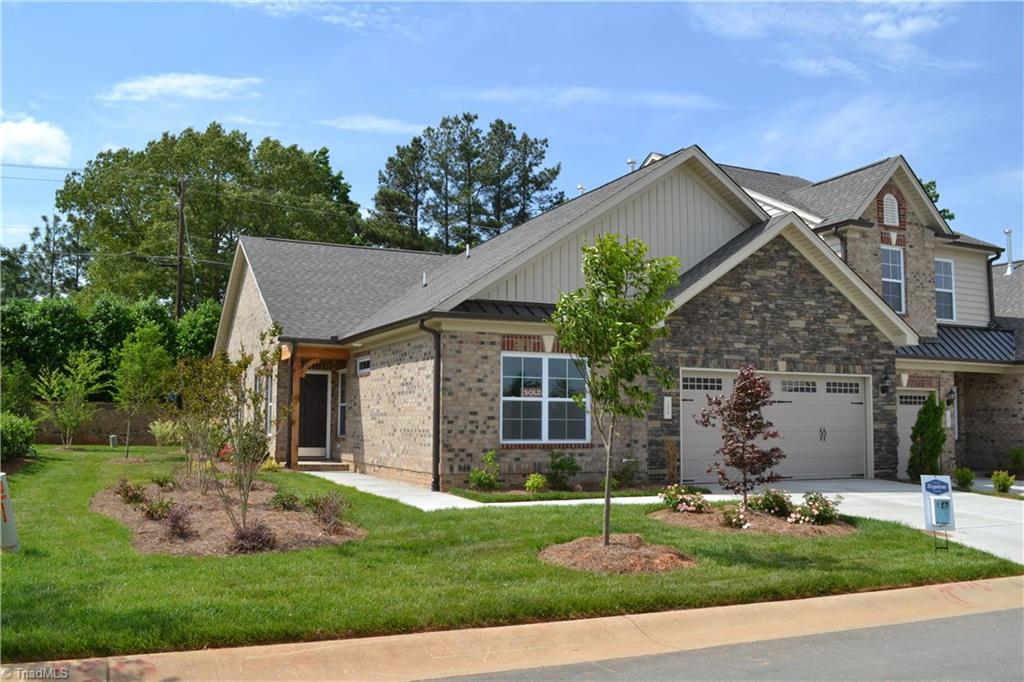 This community has a pool and clubhouse! The Franklin plan is a single level home and is scheduled to be complete by July 2021. Stainless steel appliances, White cabinets with Quartz countertops in kitchen, 9 ft ceilings, gas log fireplace in family room. Great location in Winston Salem, close to everything! Call Peggy for appointments - 336.689.7344 **PICTURES ARE SIMILAR TO HOME BEING BUILT** ONLY 3 TOWNHOMES LEFT IN THIS COMMUNITY!
