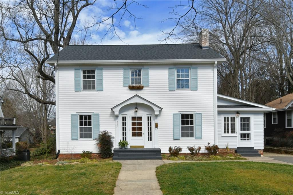Refurbished Colonial on large level fenced lot in the heart of Ardmore's Historic District. This address is conveniently located between the Hospitals, near Miller Park and minutes to Salem Parkway and downtown. The new kitchen has a large walk in pantry, granite counter tops, SS appliances and custom floating shelves. The full bath is finished with Carrera Marble in the tub shower surround, basket weave floor tile, leathered black granite double vanity top and a large linen closet. Classic Penny Carrera Marble floor in half bath. New roof, oversized gutters with leaf guards and downspouts. New heat pump in attic provides heat and air separately from FWA gas furnace in basement. All rooms have refinished hard wood floors with the exception of the sunroom. Fresh paint throughout. Original windows and doors refurbished. Bedrooms are large and have excellent closet space. Rear covered porch and deck great to relax and enjoy the outdoors. Cinch Home Warranty offered. Agent/owner