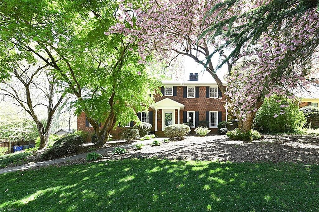 Wonderfully Renovated Brick Beauty in the Heart of Sherwood Forest! Renovated Kitchen with Stainless Steel Built-In Appliances (new Sub-Zero Fridge and GE Profile Combination Convection Microwave/Convection Wall Oven!), cooktop, and granite countertops. 2 newly remodeled bathrooms (Main and Second Floor)! Open Living Spaces, Spacious Primary Suite, large bedrooms, with brand new carpet throughout the Second Floor and Finished Basement! Built-in shelving and desks. Basement has a large living area/game room, wet bar and half bath, plus lots of storage. Lovely screened-in porch with theatre screen for watching movies at night!