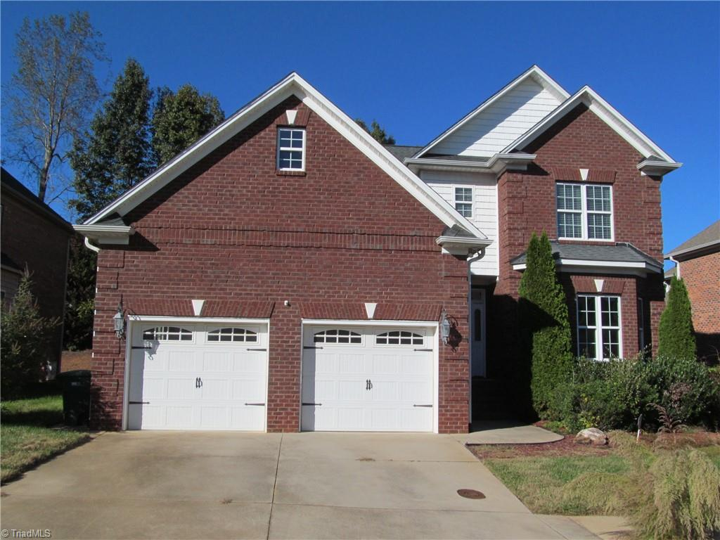 Large home with open floor plan, Den Fireplace, formal dining, eat in kitchen with kitchen island, and master on the main level and second master on second level. Main level master bath has tile shower with double shower heads.  Fenced back yard with large deck.  Easy access to Clemmons or Winston-Salem.