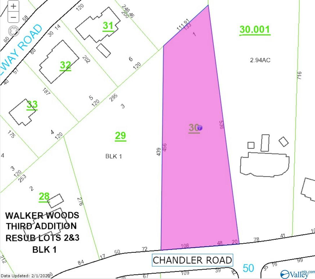 Photo of home for sale at 1611 Chandler Road, Huntsville AL