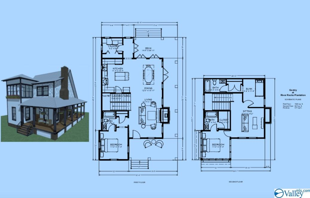 Photo of home for sale at 3297 Hardin Road, Guntersville AL