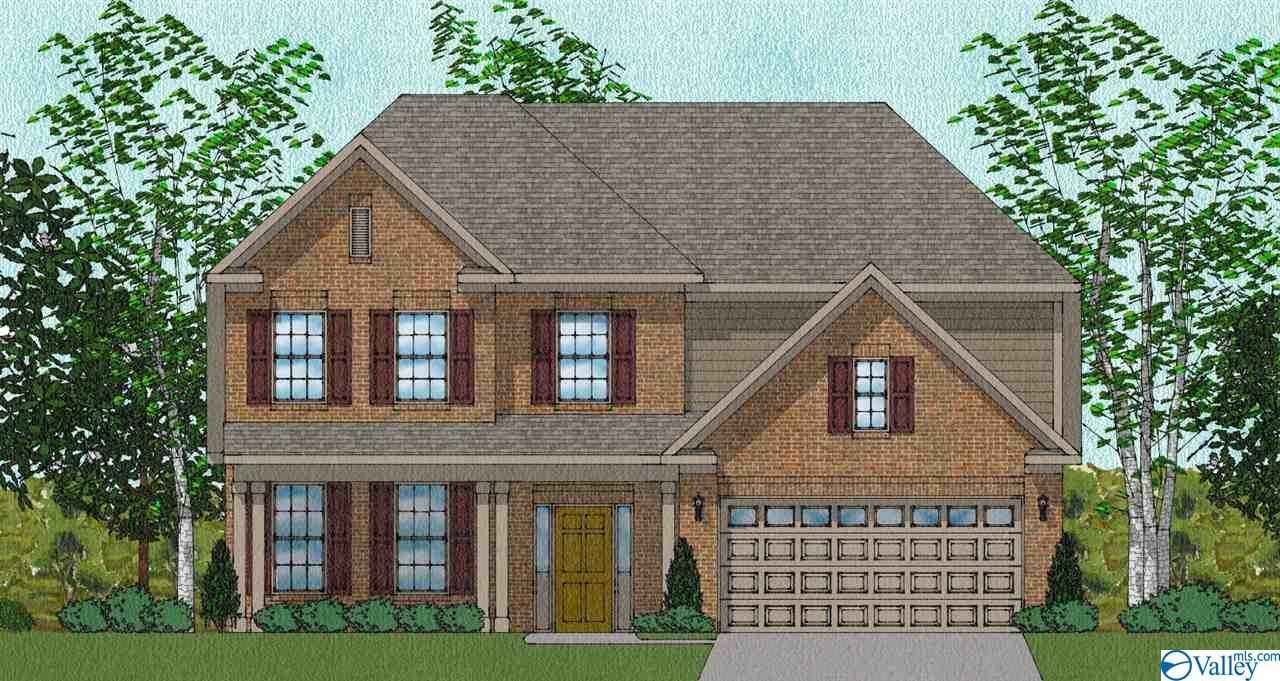 Under Construction-Customer Pre-Sale - 5BR/3.5BA plus bonus room. Front porch for enjoying southern days and nights. Main Floor isolated master suite, double bowl vanity & large walk-in closet. The family room is a great entertaining area, open to the kitchen and breakfast room. Granite counters, beautiful cabinetry, and large pantry. Incredible amount of upstairs space. Natural gas community with energy efficient homes. Enjoy beautiful landscaping with fully sodded yard, full irrigation system. Beautiful walking trail, Clubhouse, Pool. Madison City Schools! CALL TODAY TO BUILD YOUR NEW HOME!