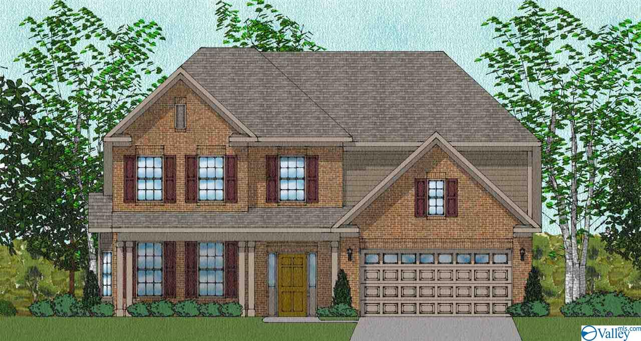 Under Construction-5BR/2.5BA plus bonus room. Front porch for enjoying southern days and nights. Main Floor isolated master suite, double bowl vanity & large walk-in closet. The family room is a great entertaining area, open to the kitchen and breakfast room. Granite counters, beautiful cabinetry, and large pantry. Incredible amount of upstairs space. Natural gas community with energy efficient homes. Enjoy beautiful landscaping with fully sodded yard, full irrigation system. Beautiful walking trail, Clubhouse, Pool. Madison City Schools!