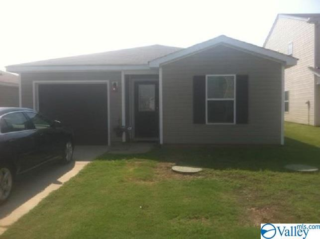 This single story 3 bedroom 2 bathrooms nestled in a cul-de-sac (no through traffic) in Harvest.  Only minutes away from local shopping center, banking, and Highway 53.  In 2017 all new stainless steel kitchen appliances, bathroom remodel 2017, laminate and some carpet.  Security cameras will remain, home is currently protected by ADT.Great first time buyer and or investment property.  All measurement to be verified by purchaser.