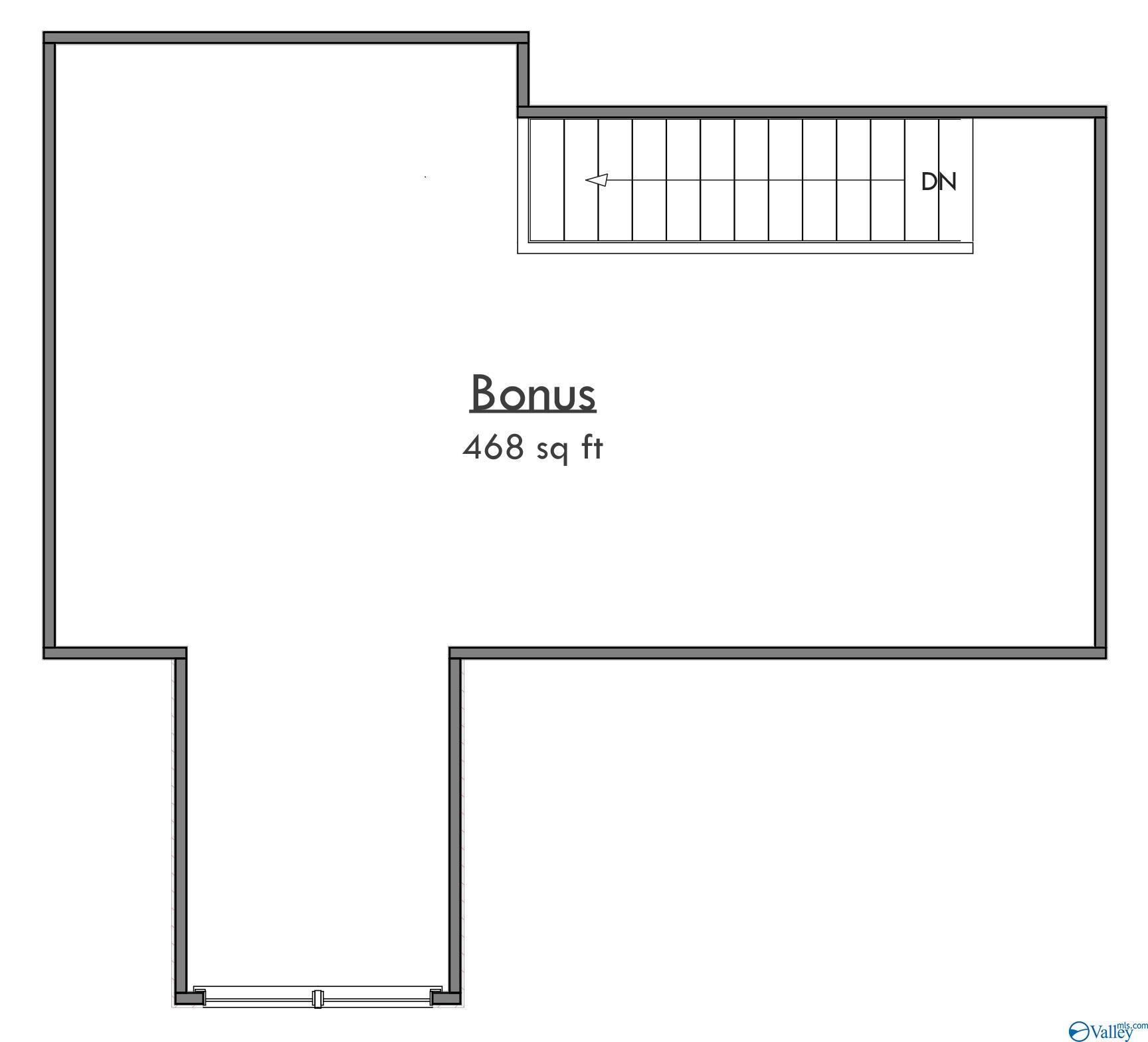 Artist rendering bonus room