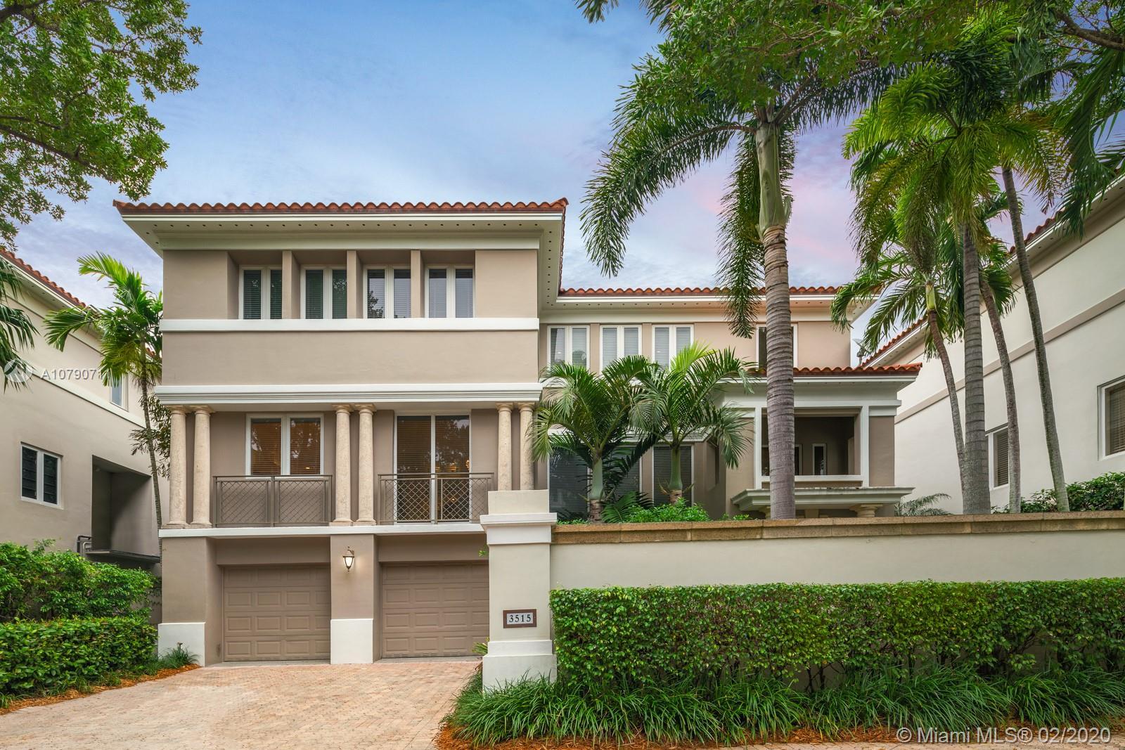 3515 Bayshore Villas Dr, Miami, Florida 33133, 3 Bedrooms Bedrooms, ,5 BathroomsBathrooms,Residential,For Sale,3515 Bayshore Villas Dr,A10790711