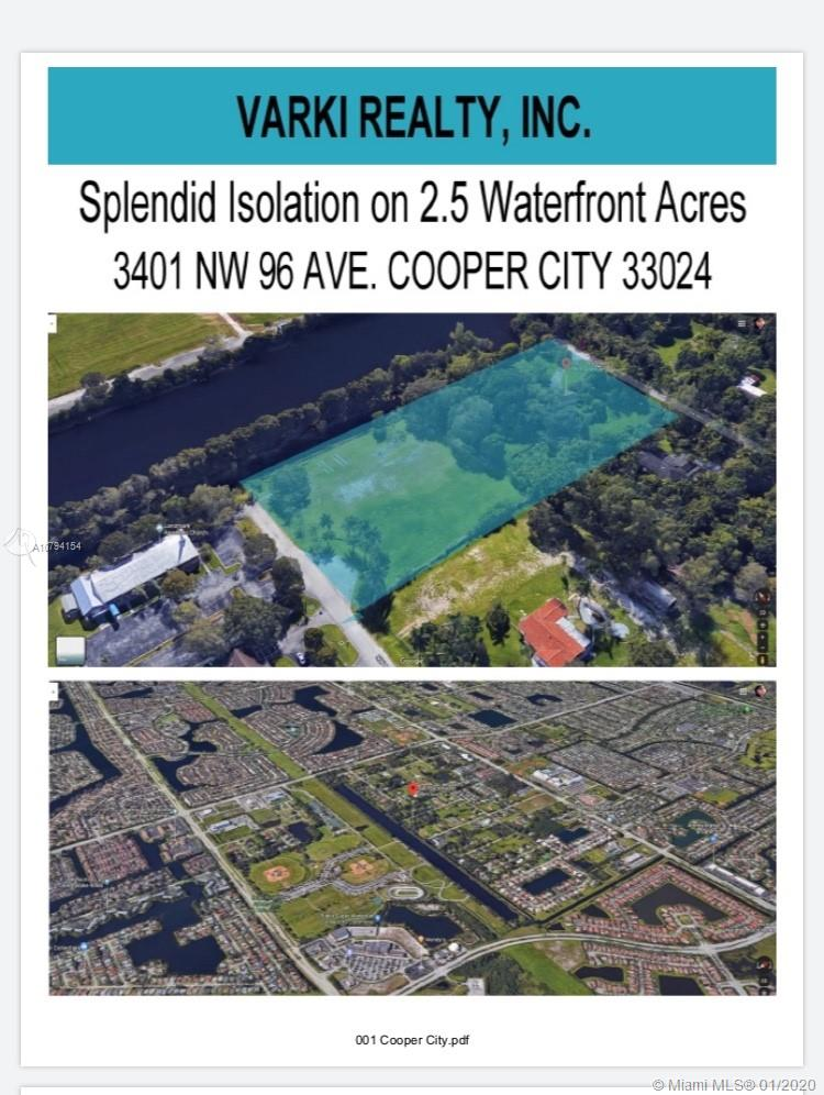 Property for sale at 3401 NW 96 Ave. Cooper City, Cooper City,  Florida 33024