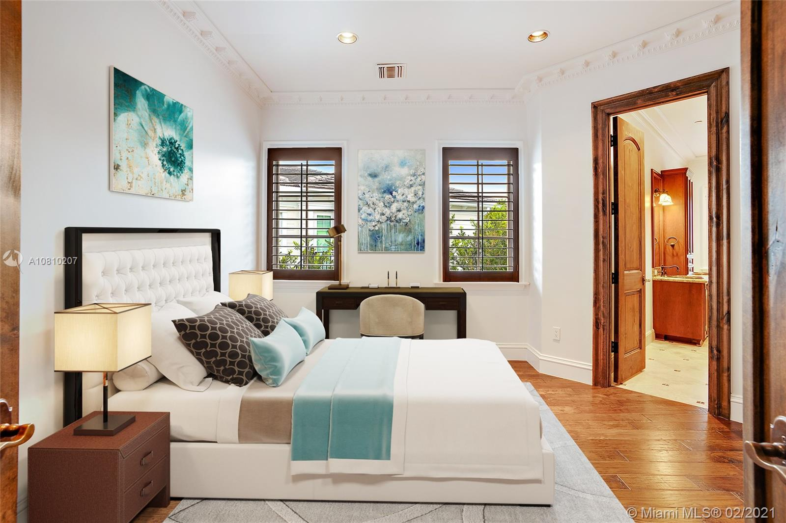Virtually Staged Guest Bedroom