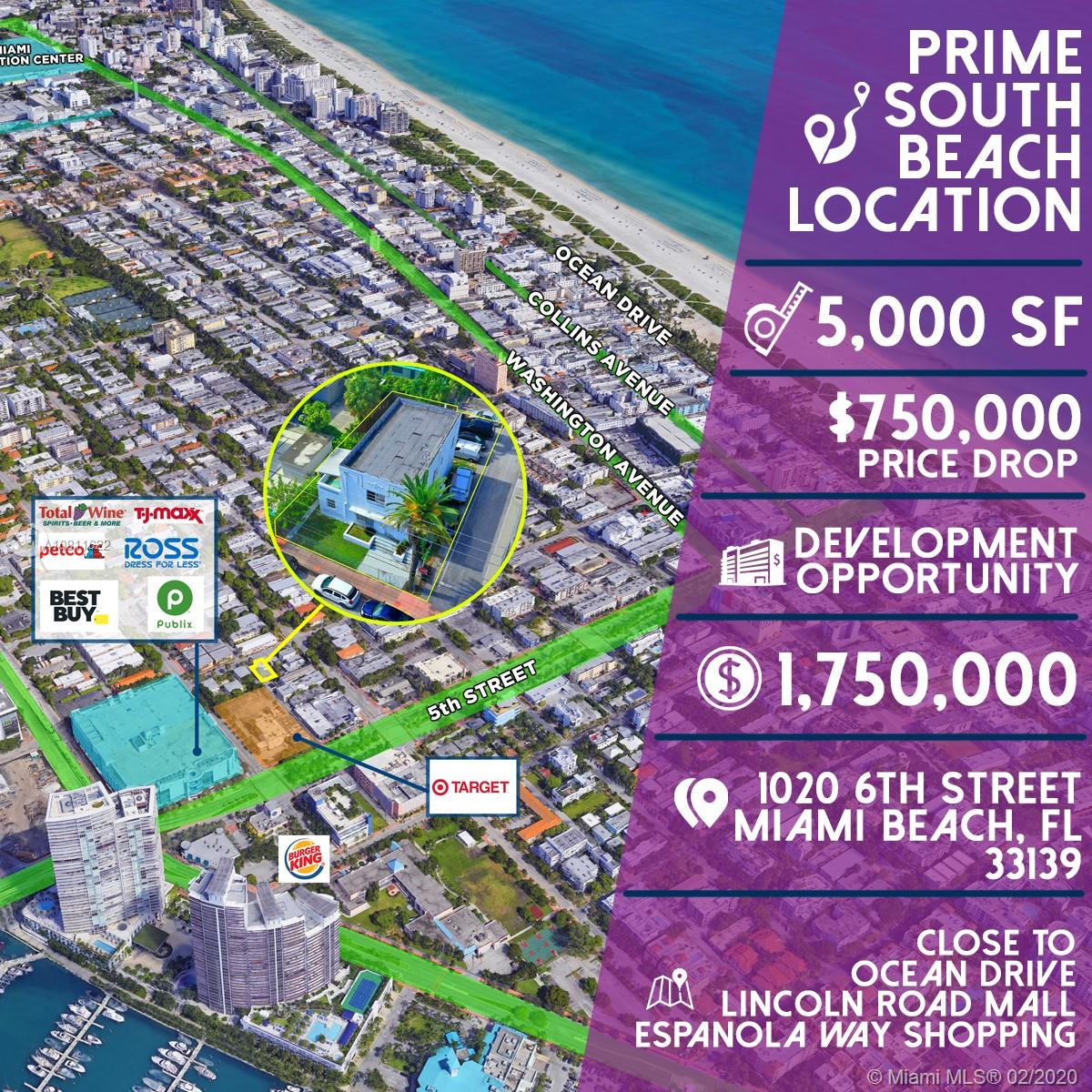 1020 6th St, Miami Beach, Florida 33139, 4 Bedrooms Bedrooms, ,3 BathroomsBathrooms,Residential,For Sale,1020 6th St,A10811622