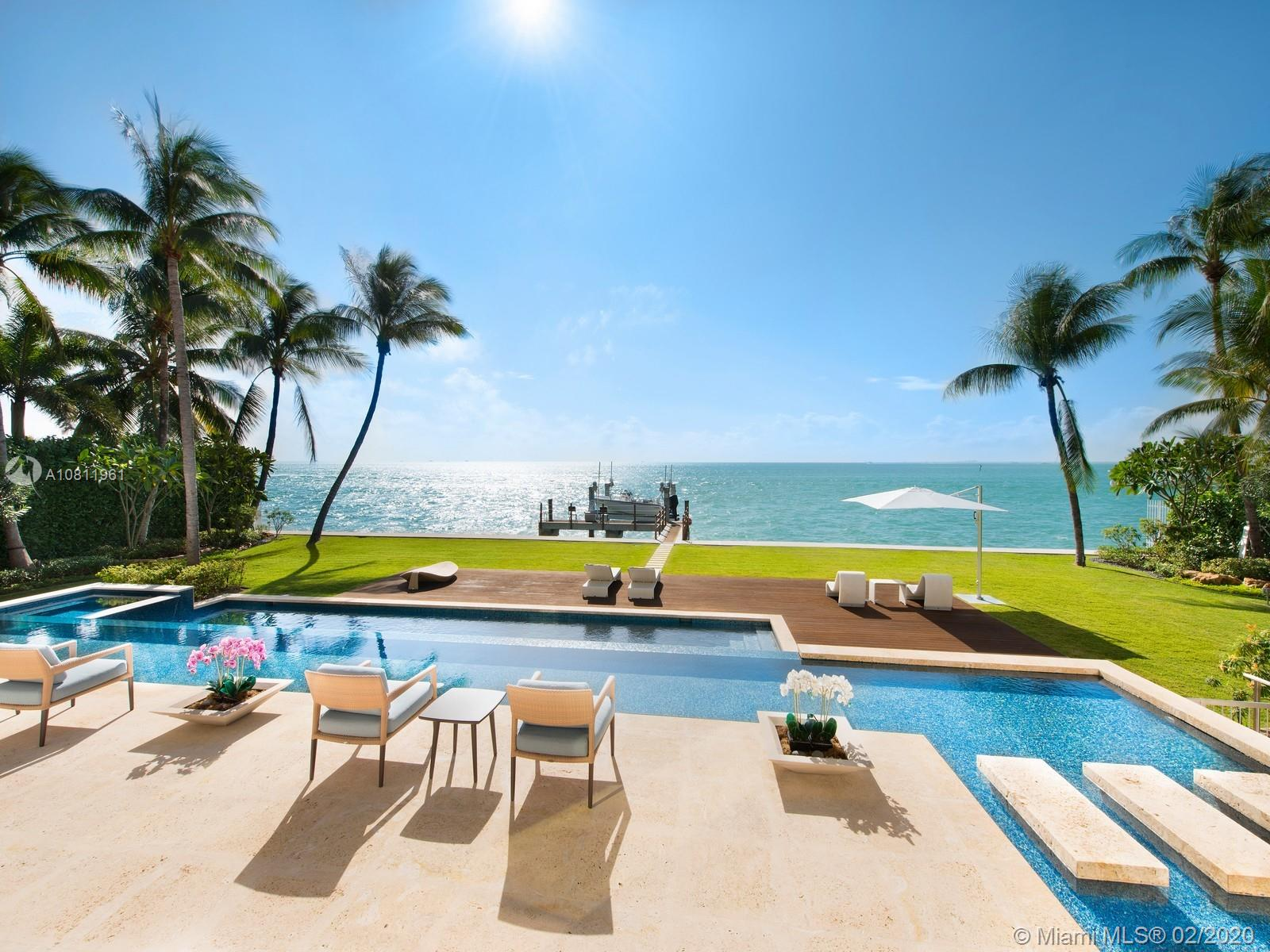 Panoramic ocean views from patio, pond and pool deck.