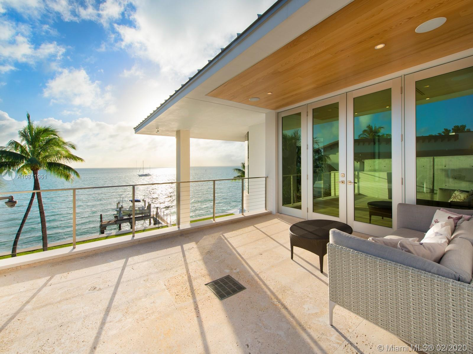 Master bedroom private terrace with ocean views.
