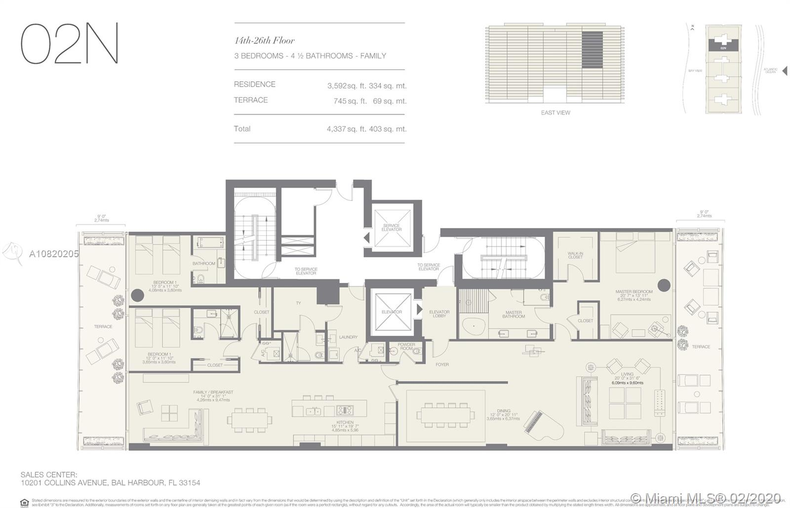Photo of 10203 Collins Ave. #1902N listing for Sale