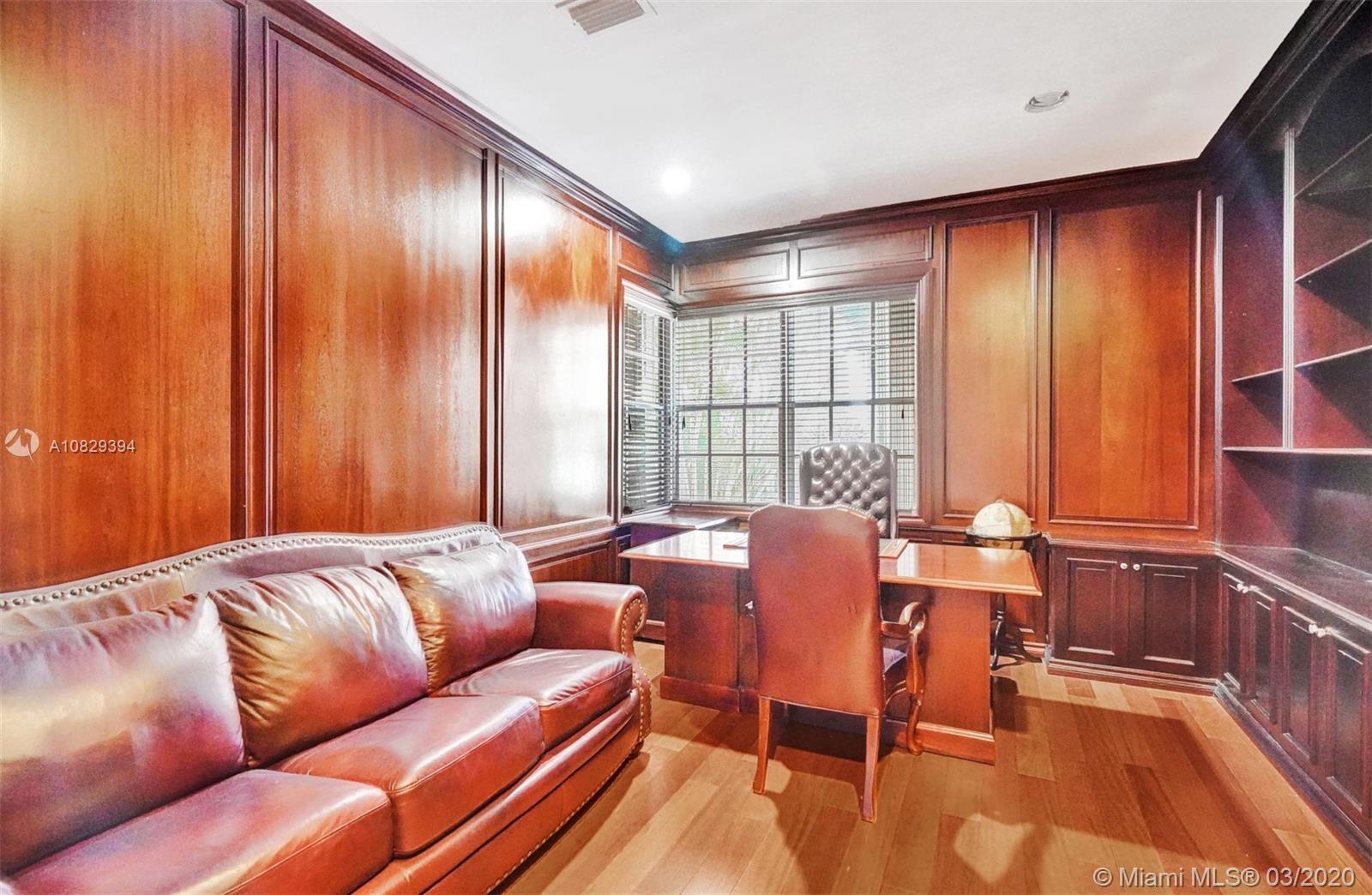 Custom Built Wood Office
