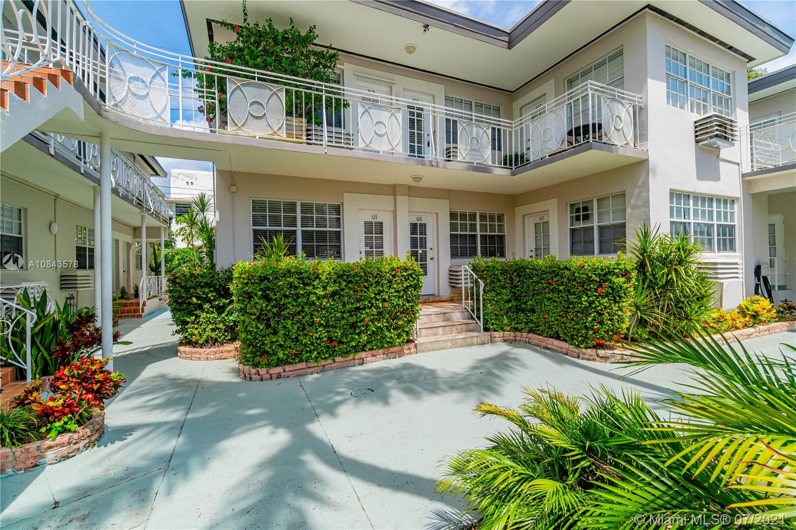 717 Espanola Way # 106, Miami Beach, Florida 33139, ,1 BathroomBathrooms,Residential,For Sale,717 Espanola Way # 106,A10843578