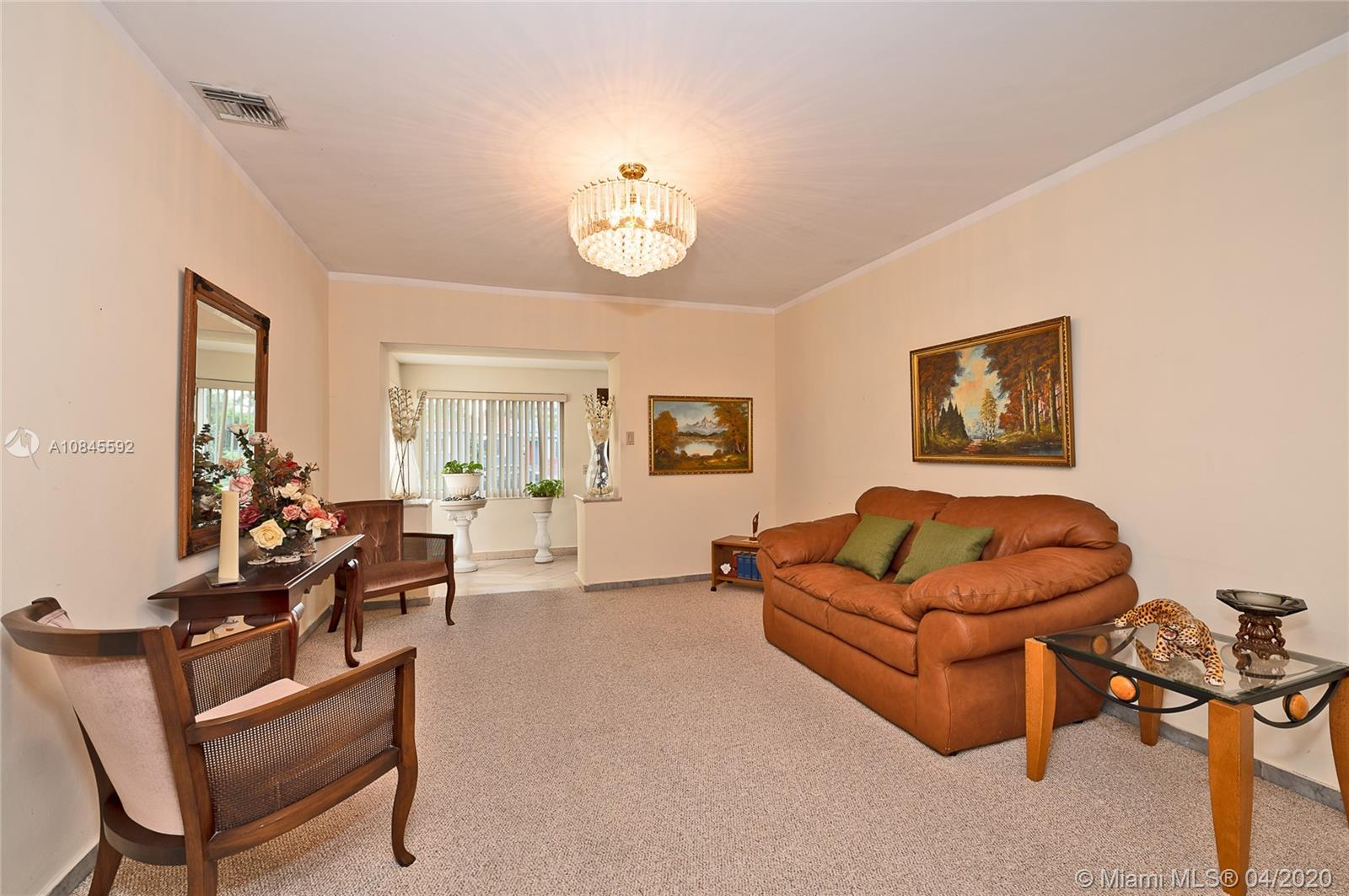 Formal Living Room with view of the Dining Room