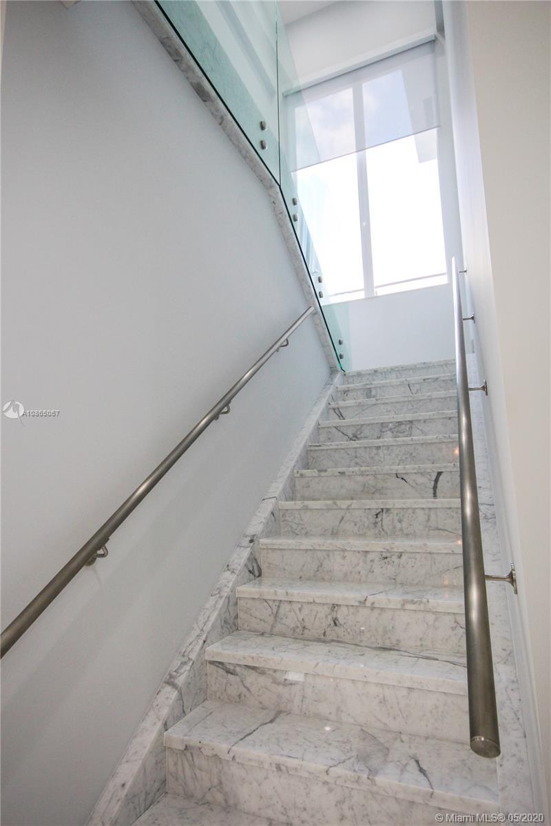 Italian marble staircase.