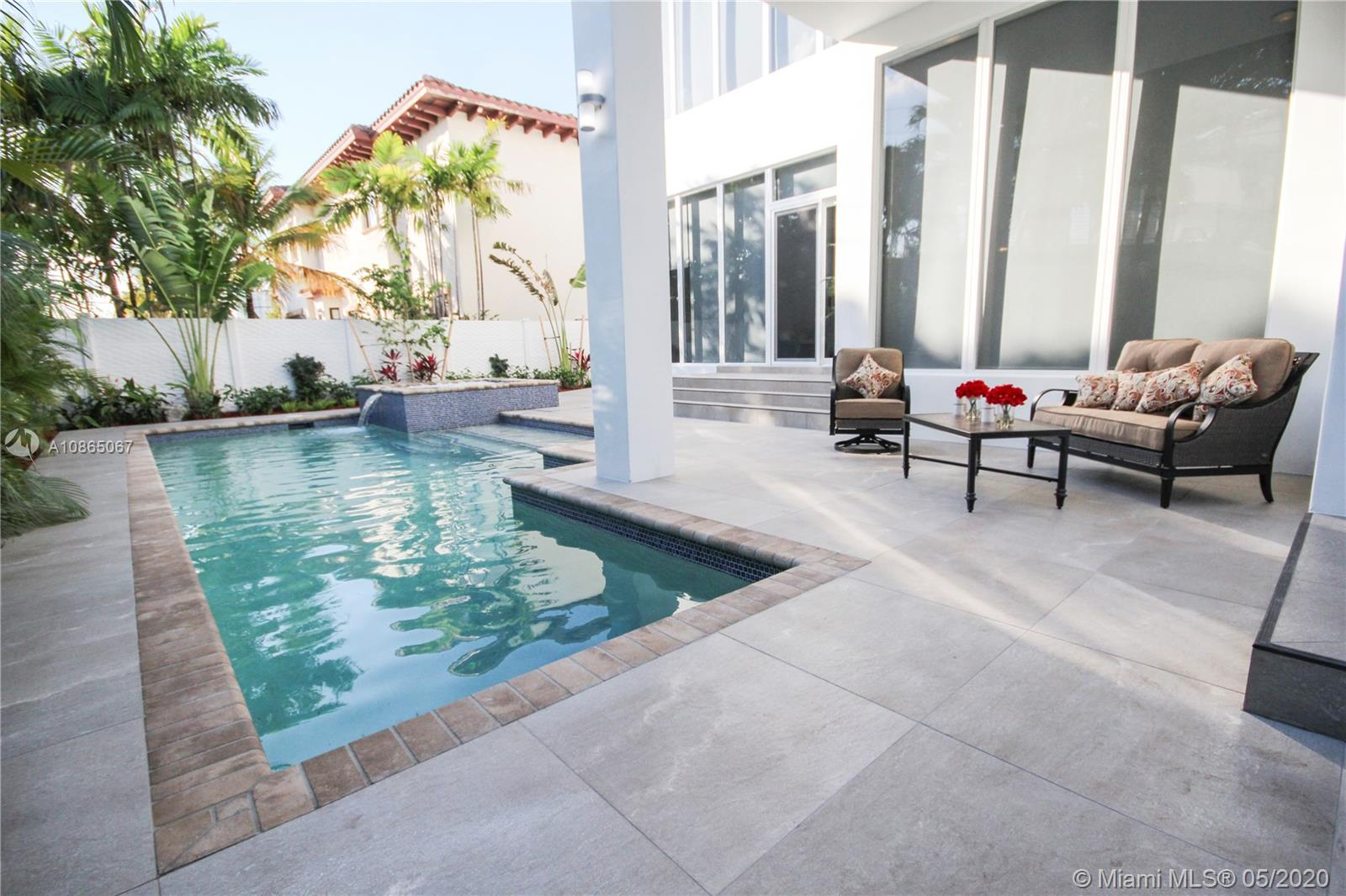 Relaxing pool area with covered patio and sun all day long.