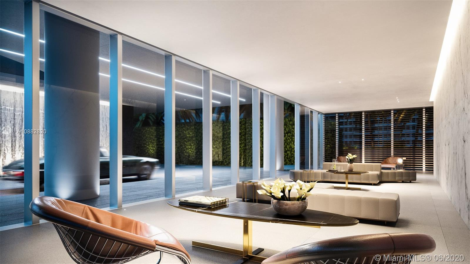 Exclusive interior design in all amenities and throughout the building by MINOTTI