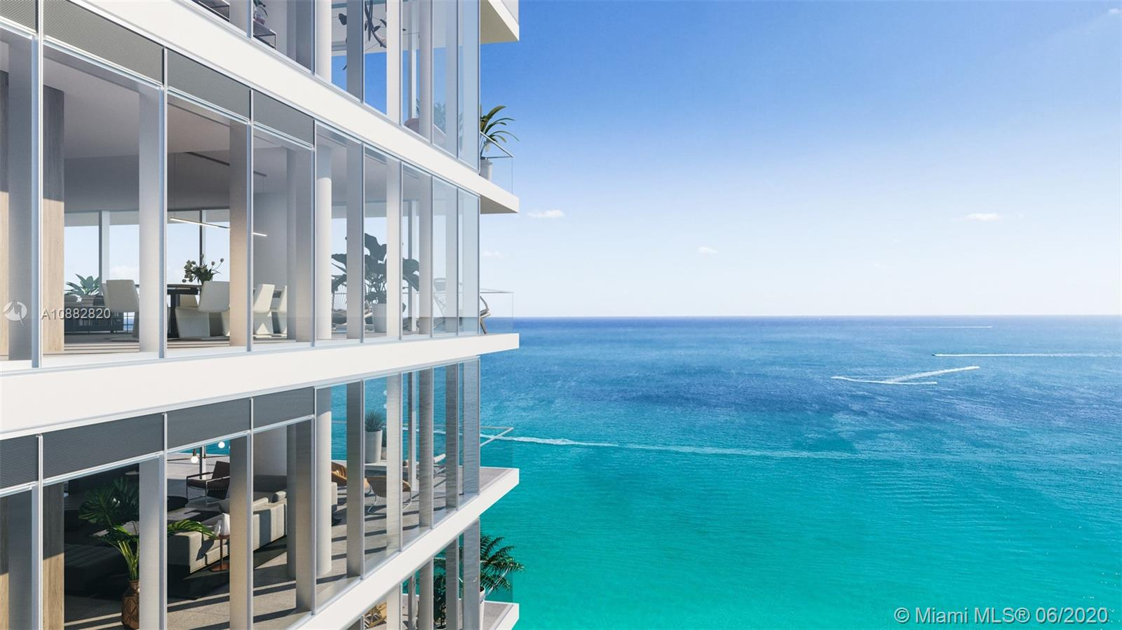 Floor to ceiling glass windows to enjoy endless ocean and intracoastal views