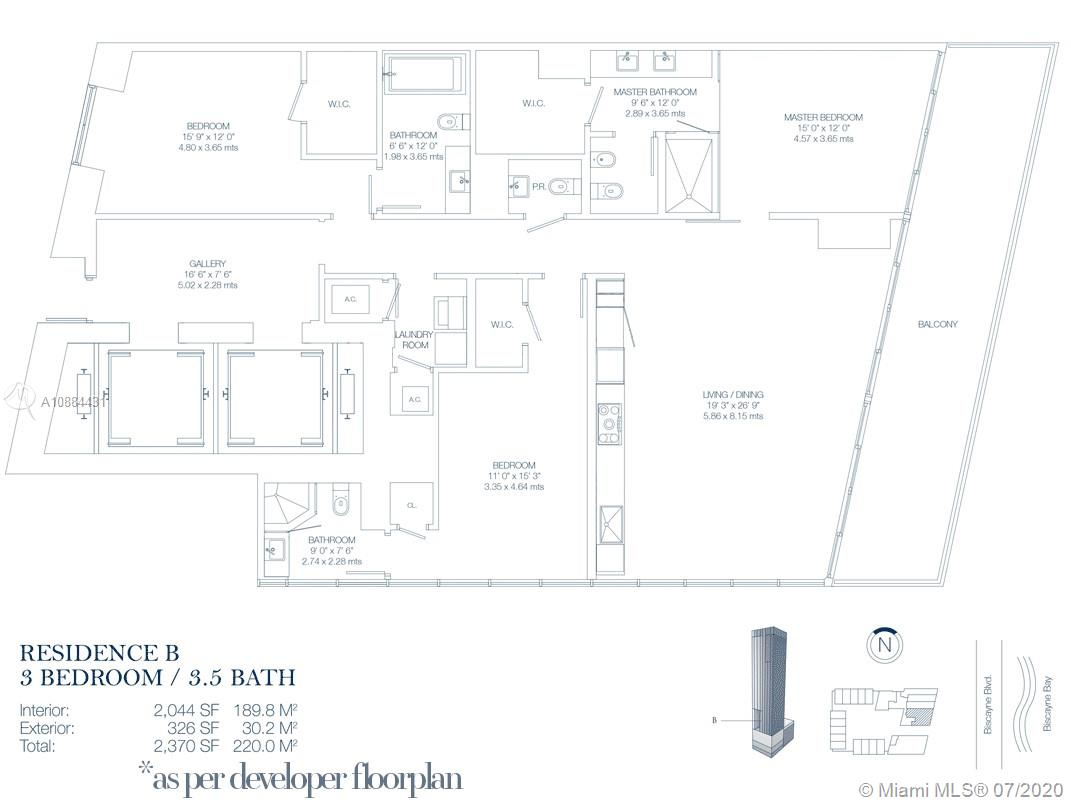 Photo of 1100 Biscayne Blvd #2002 listing for Sale