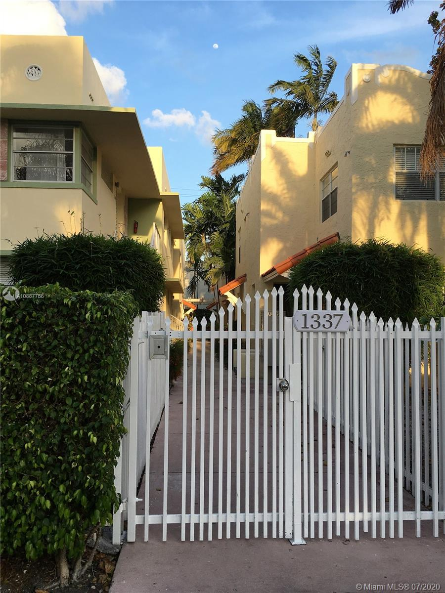 1337 Euclid Ave # 204, Miami Beach, Florida 33139, 1 Bedroom Bedrooms, ,1 BathroomBathrooms,Residential,For Sale,1337 Euclid Ave # 204,A10887756