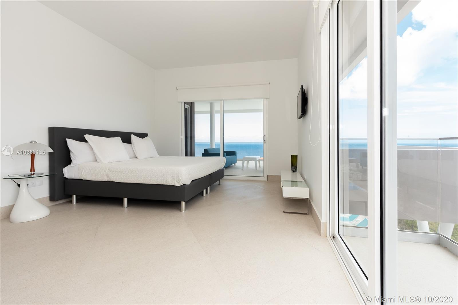 Large private master bedroom with King bed, extra large ensuite bathroom, oval bathtub, glass rain shower overlooking the ocean, with its own private terrace and custom built walking closet.2 additional bedrooms with queen beds, floor to ceiling custom closets and private ensuite with double sinks with rain shower, both bedrooms have private terraces overlooking the ocean and a guest bathroom.Energy saving LED lighting.