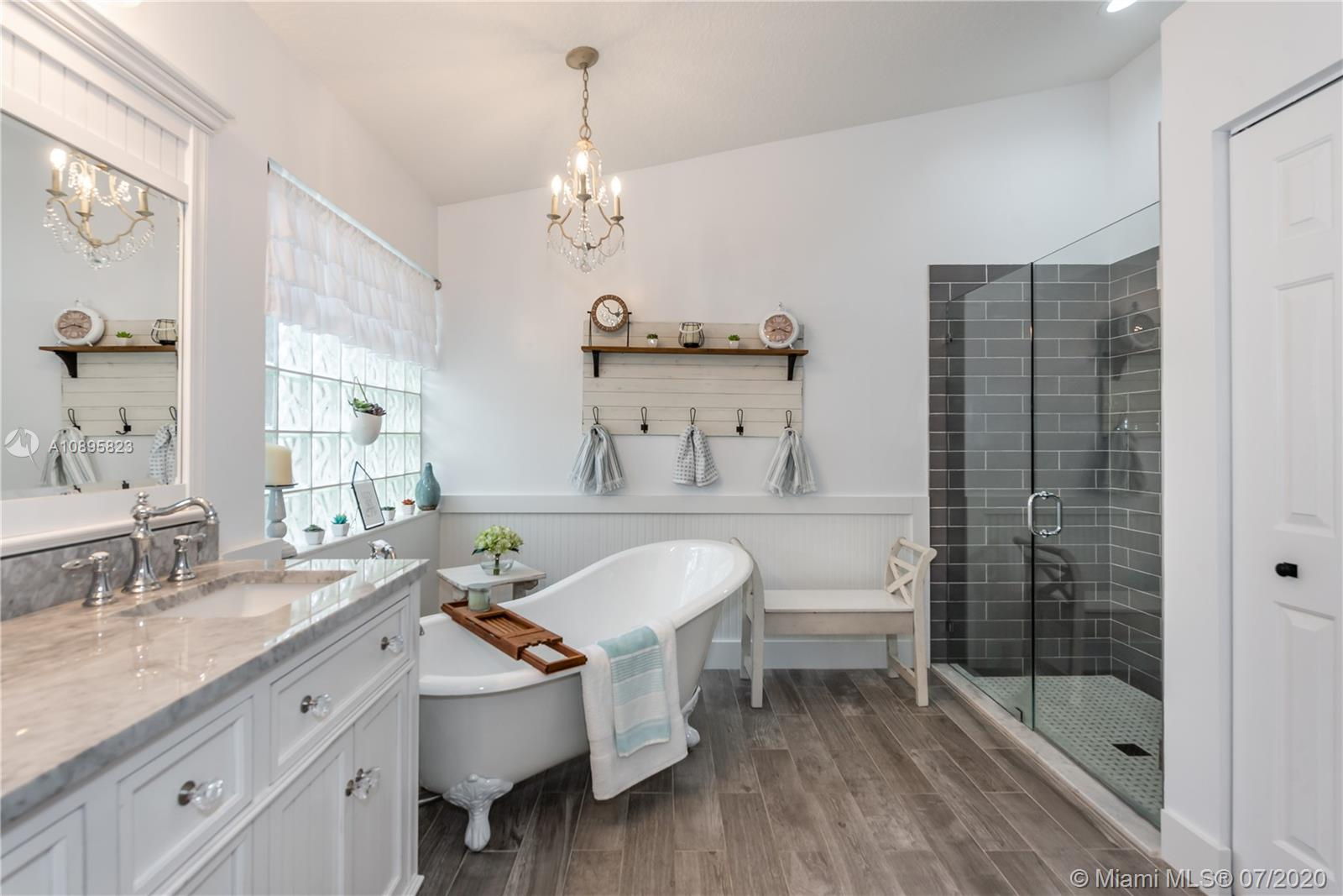 Completely renovated and beautifully upgraded Master Bath