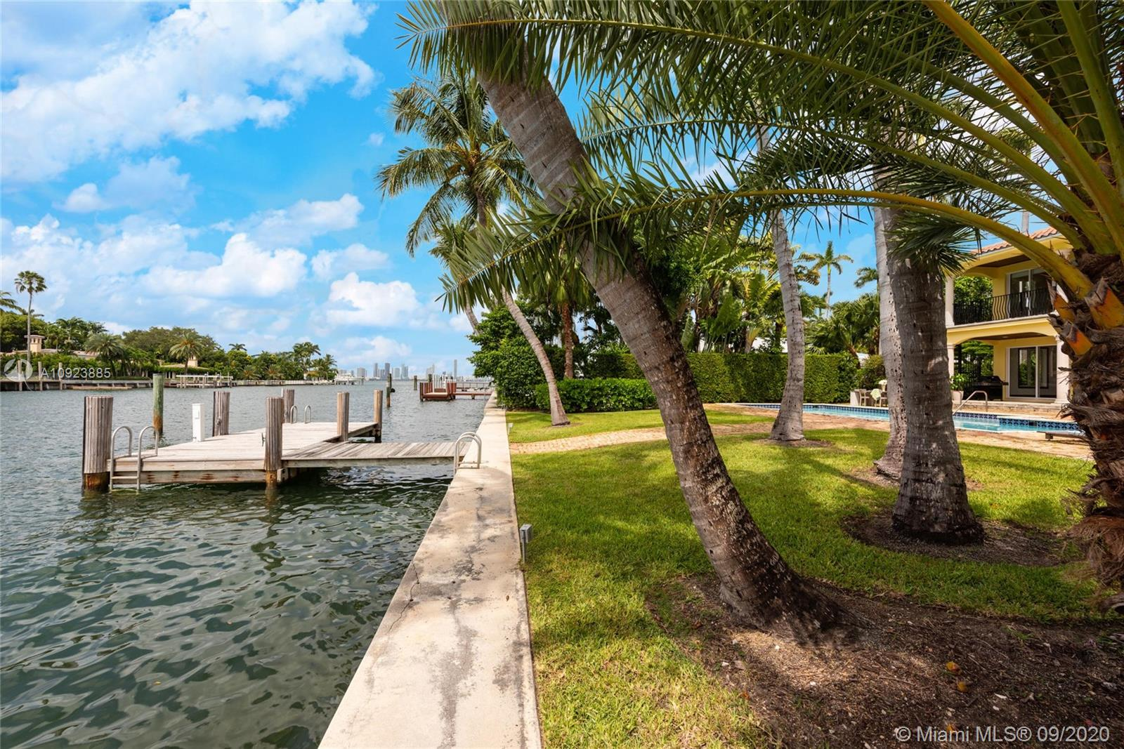 70' of waterfront with dock & boat lift
