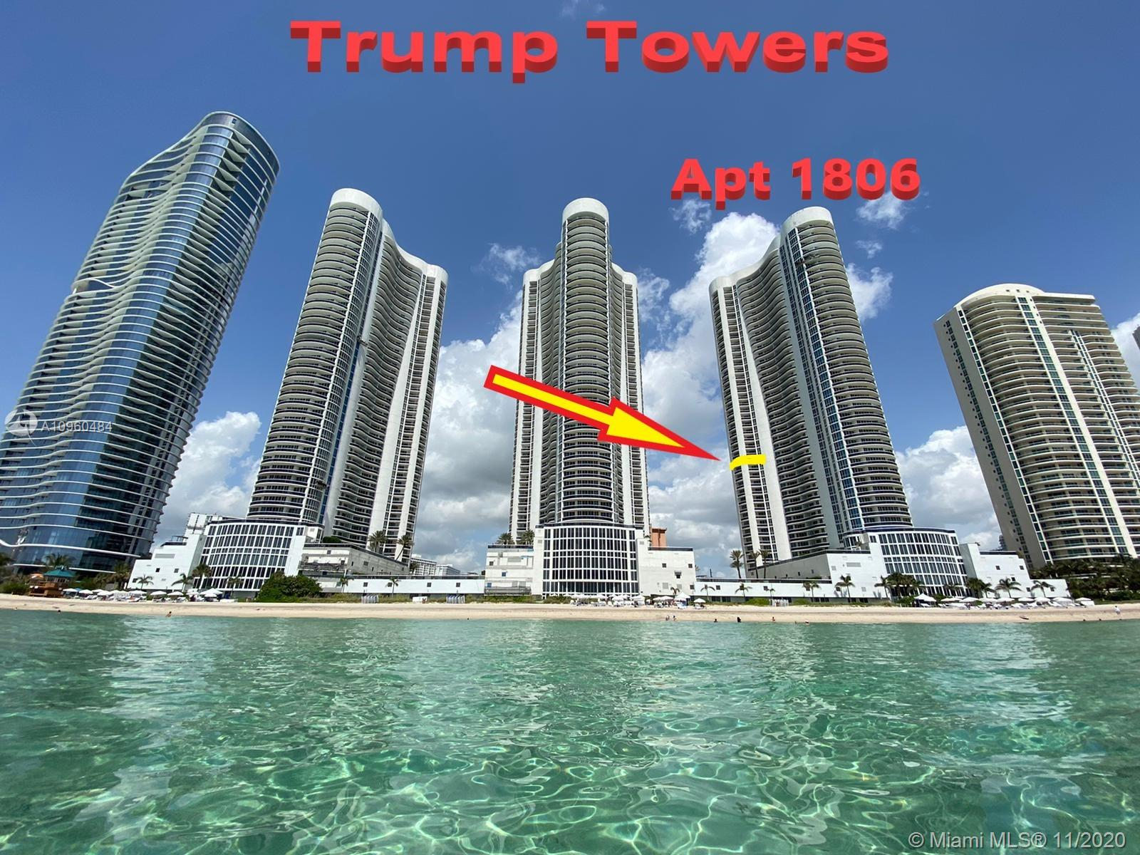 Trump Tower I #1806 - 16001 Collins Ave #1806, Sunny Isles Beach, FL 33160