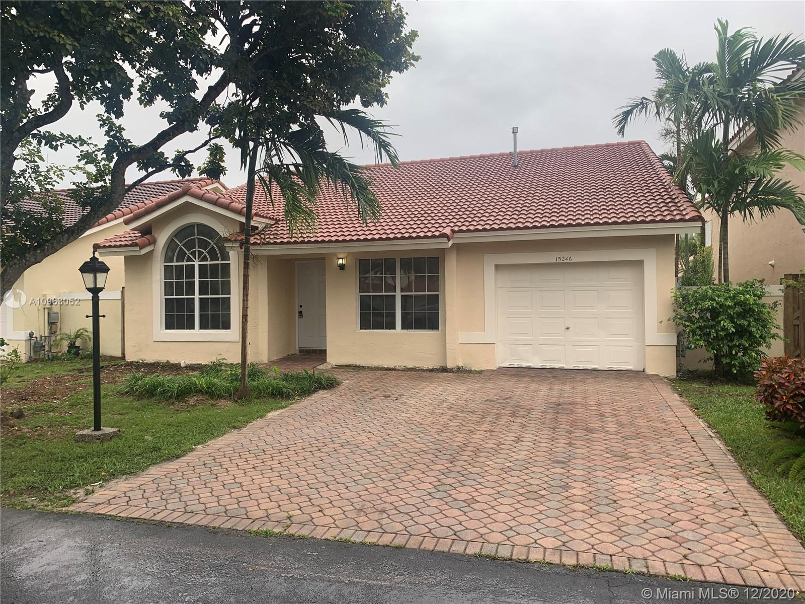 15246 SW 108th Ter, Miami, Florida 33196, 3 Bedrooms Bedrooms, ,2 BathroomsBathrooms,Residential,For Sale,15246 SW 108th Ter,A10963052