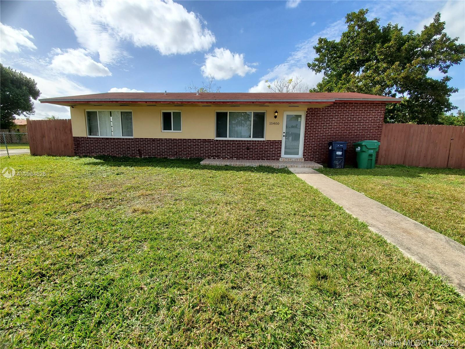 15400 SW 102nd Pl, Miami, Florida 33157, 3 Bedrooms Bedrooms, ,1 BathroomBathrooms,Residential,For Sale,15400 SW 102nd Pl,A10984626