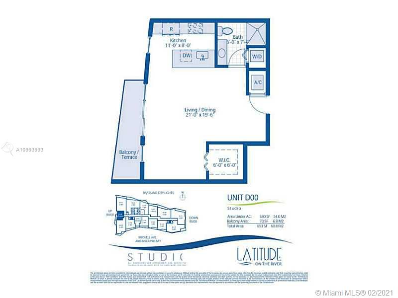 Latitude on the River #3300 - 185 SW 7 ST #3300, Miami, FL 33130