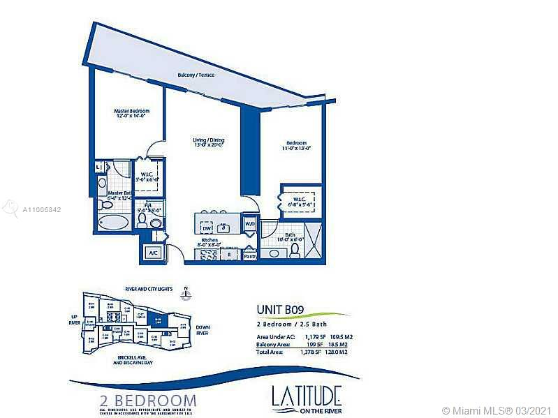 Latitude on the River #1709 - 185 SW 7 ST #1709, Miami, FL 33130
