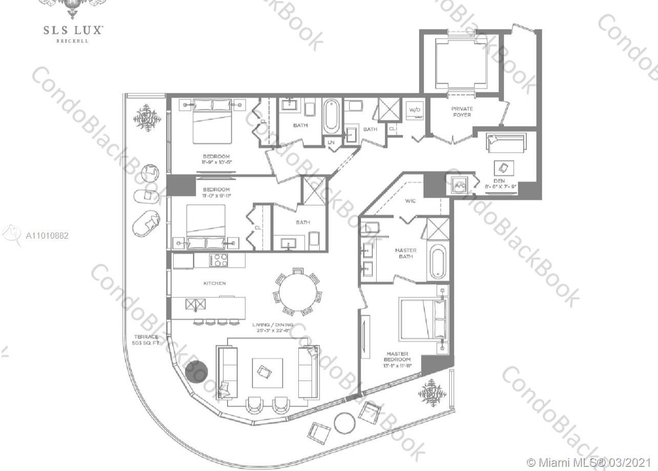 SLS Lux Brickell #2901 - 801 S Miami Ave #2901, Miami, FL 33130