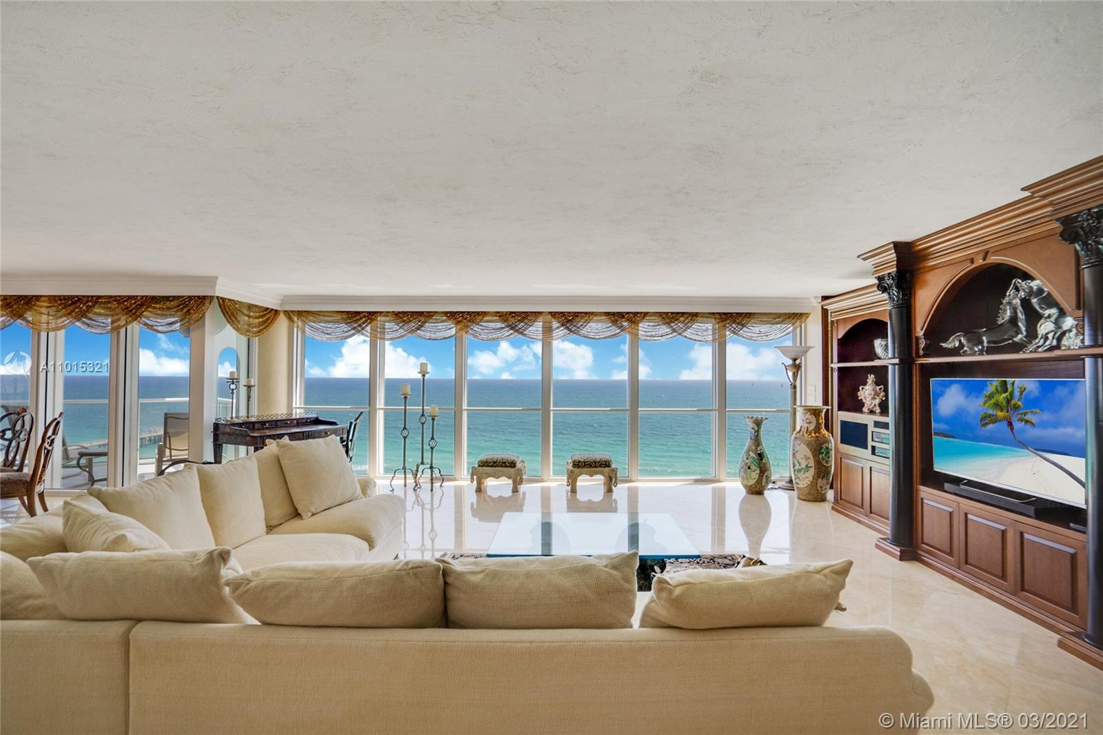 Sit back and enjoy the view from the living room.