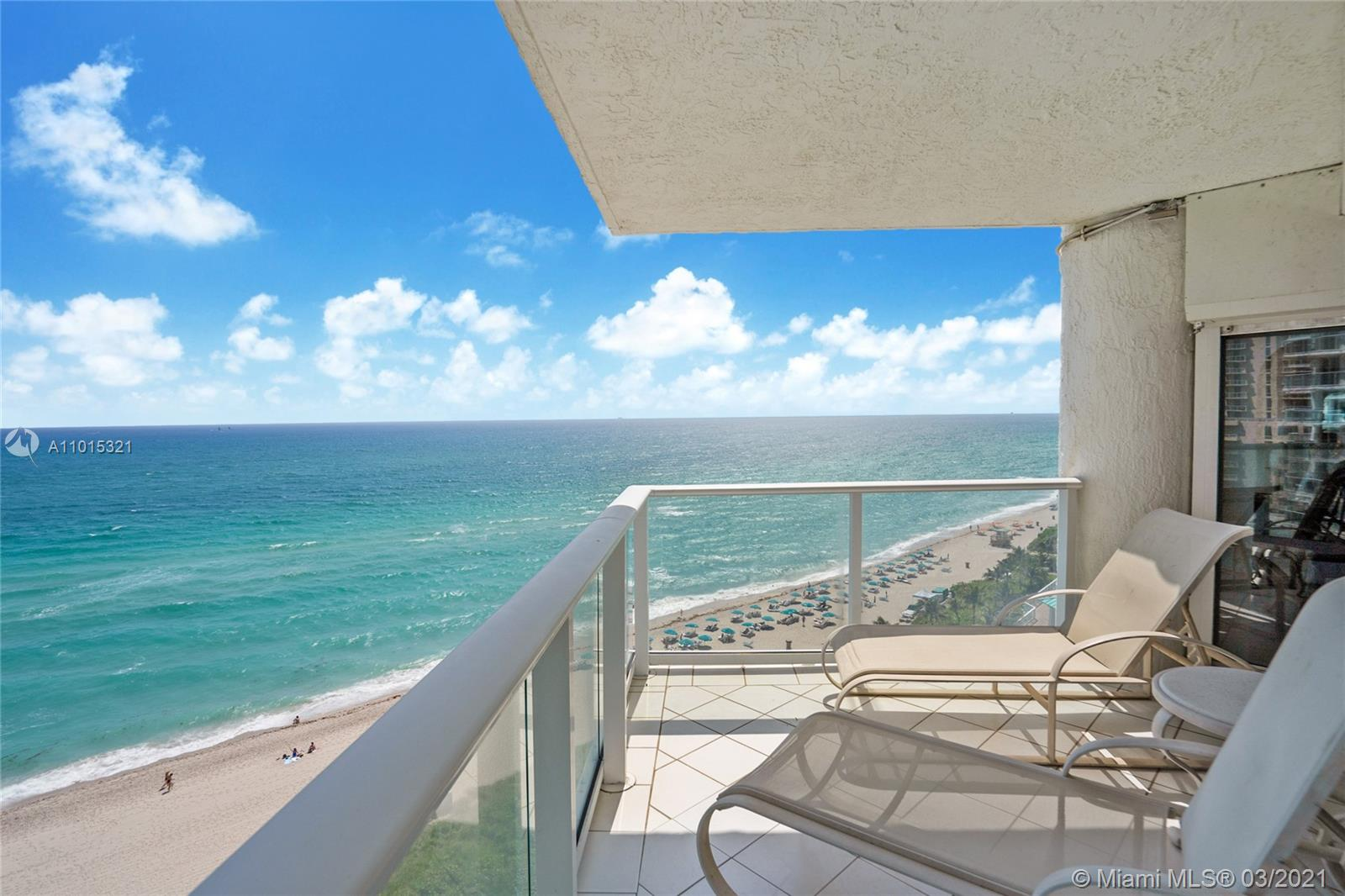 Direct oceanfront.  Northeast corner with wrap around balcony.  Views of the beach to the north and south.