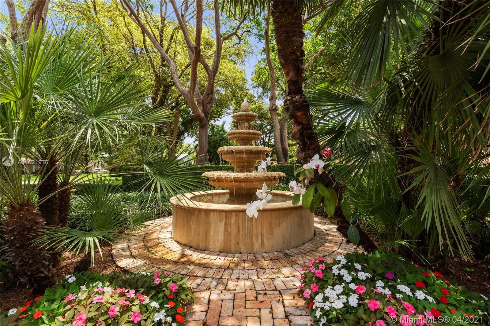 Fountain in Front Garden.