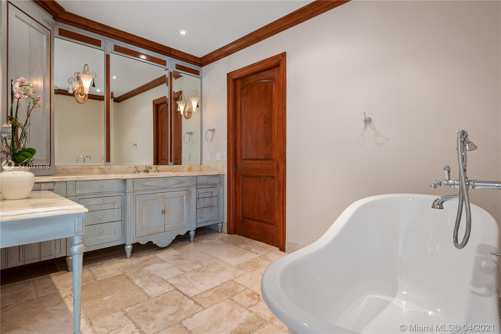 Master Bath with French vanities.