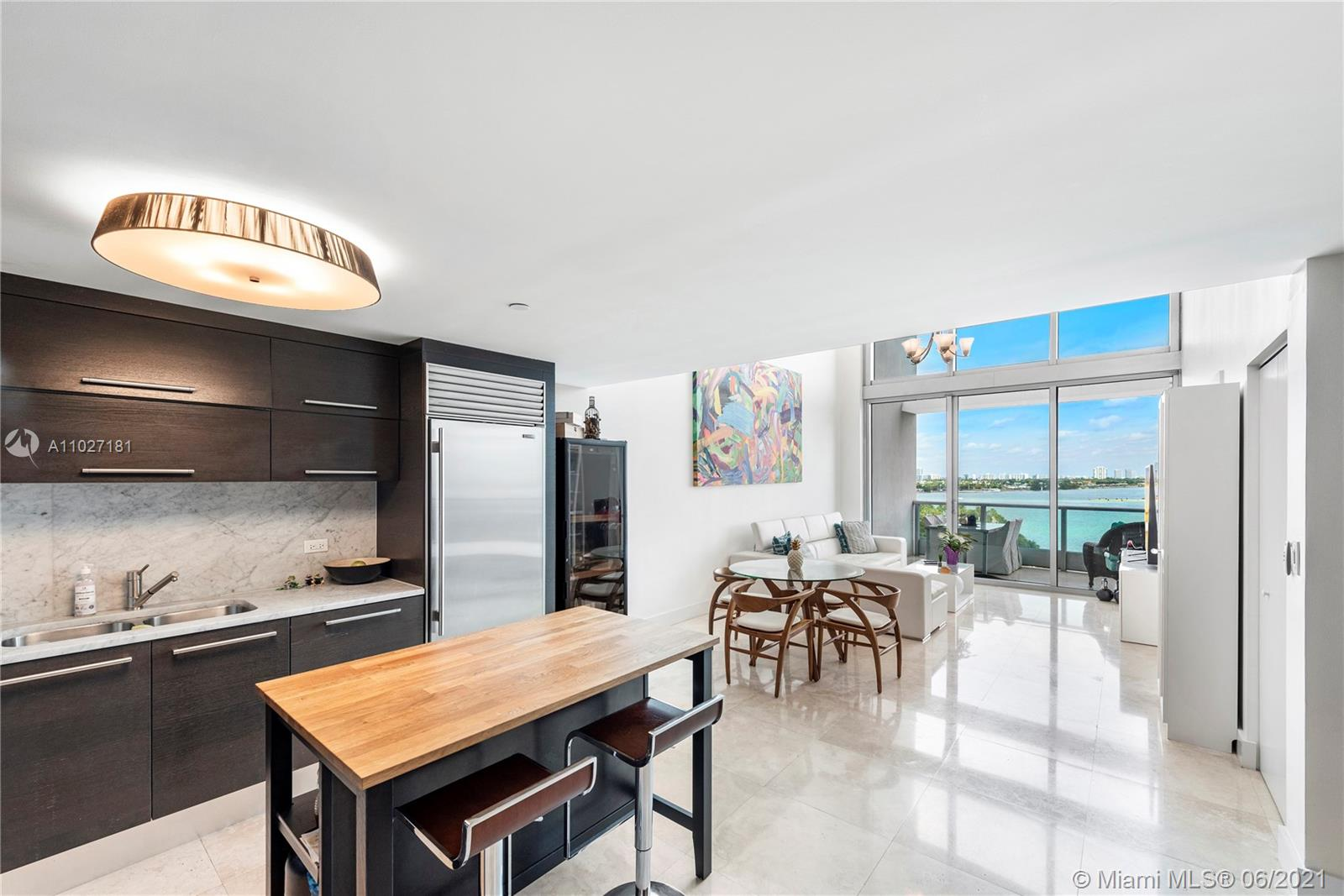 Kitchen / Dining Room / Living/Family Room w/ Biscayne Bay and City Views