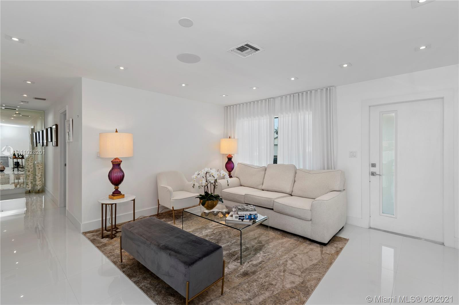All new white porcelain floors throughout