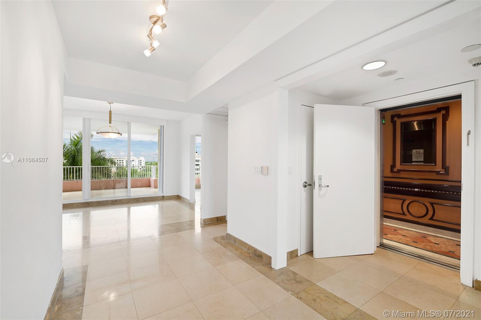 785 Crandon Blvd Unit 505 - Foyer with Private Elevator Entrance