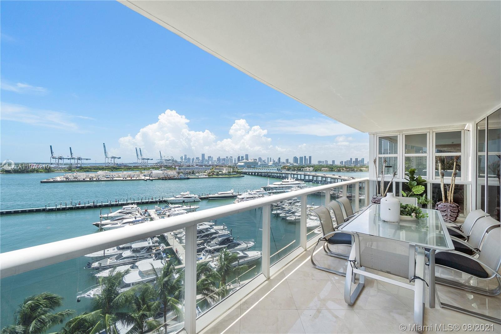 Living Room with Direct Bay Views
