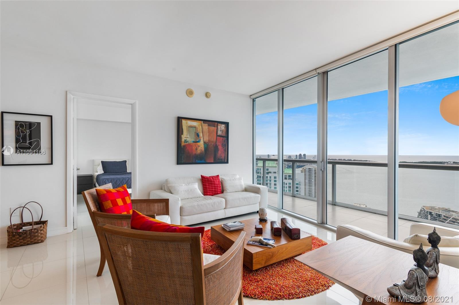 What living in Miami should be like: beautiful condo and  endless water views.