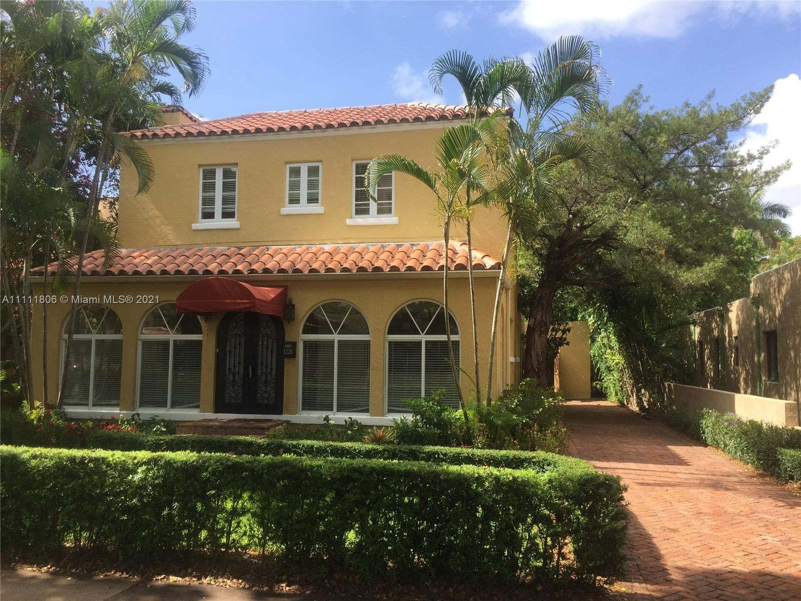 Single Family Home,For Rent,1226 Palermo Ave #1226, Coral Gables, Florida 33134,Brickell,realty,broker,condos near me
