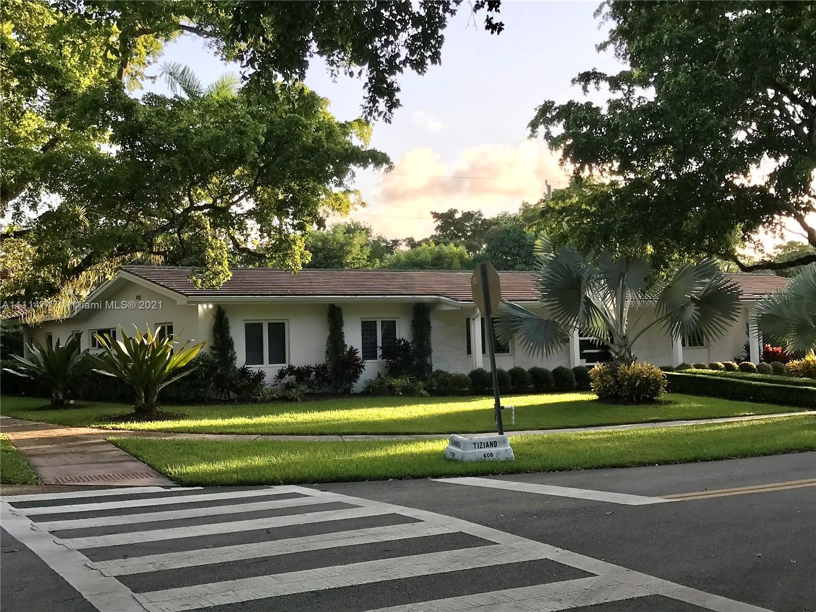 Single Family Home,For Sale,600 Tiziano Ave, Coral Gables, Florida 33143,Brickell,realty,broker,condos near me