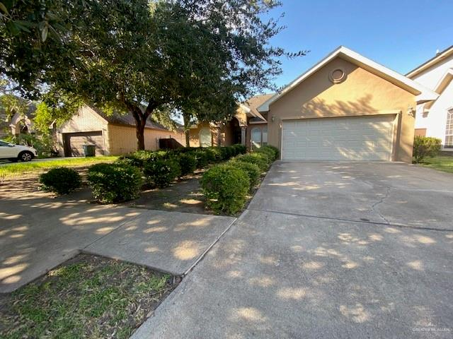 Great house in the Sharyland School District. This Beautiful 3 bedroom/ 2 Bath/ 2 car garage home is located in the Sharyland Plantation (Planned Community). The Awesome kitchen granite counter-tops. The Bedrooms are Huge! Lots of space for family and friends. The backyard is lush and lots of space.