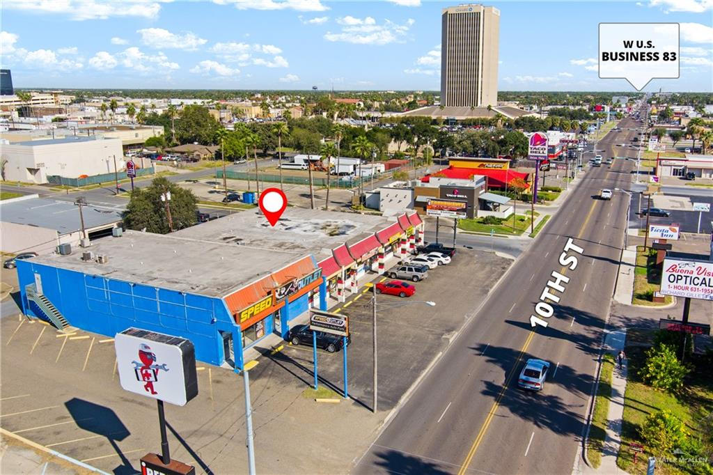 PRIME LOCATION ON SOUTH 10TH.  Easy access to Interstate 2 and Business 83 and close proximity to Downtown McAllen.  If you are looking for your next commercial investment, this is a must see!